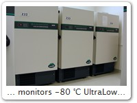 ... monitors -80 °C UltraLow Freezer Here in the main laboratory of the clinical centre of Johannes Gutenberg-University, Mainz, Germany