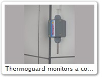 Thermoguard monitors a cold room for food