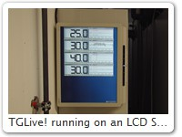 TGLive! running on an LCD Screen