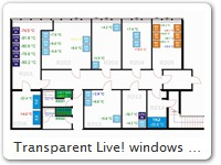 Transparent Live! windows overlayed with floorplanVersion A Click here for full size