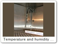 Temperature and humidity sensor EP, within the climatic chamber, detail