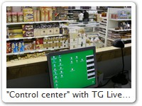 """Control center"" with TG Live! windows"