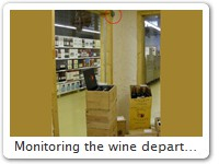 Monitoring the wine department