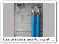 Gas pressure monitoring at Interlabor Belp AG At the top left you can see the monitoring electronics
